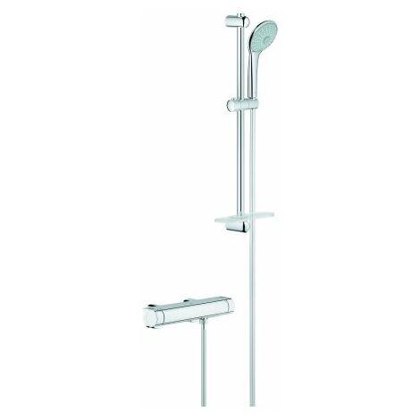 Mezclador termostático de ducha Grohe Grohtherm 2000 con kit de ducha de masaje - 34195001
