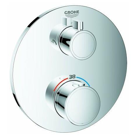 Mezclador termostático de ducha Grohe Grohtherm para Rapido SmartBox, con conmutador integrado de 2 vías, 2 consumidores, cromado - 24076000