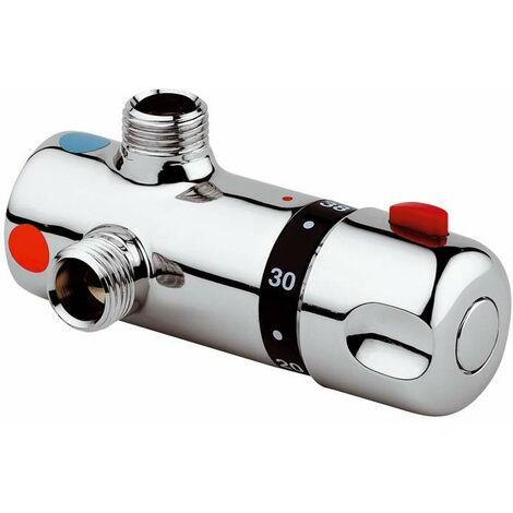 Mezclador termostático en latón cromado Idral 09029 | Cromo