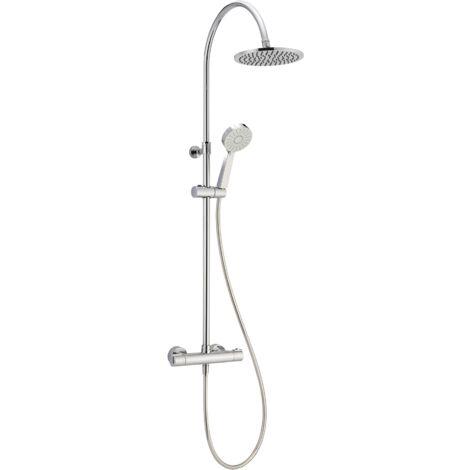 Mezclador termostático para ducha con columna Huber AGC8003021 | Cromo - termostático