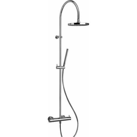 Mezclador termostático para ducha con columna Piralla Essenza 0ES00199A16 | Cromo