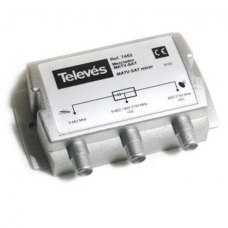 Mezclador Terrestre-Sat RF+FI Gris
