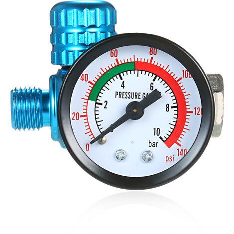 MF07 manometre regulateur de pression element filtrant separateur basse pression protection de l'environnement pistolet de pulverisation queue entree et sortie manometre