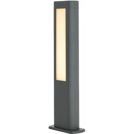 Mhairi LED pillar lamp, angular, dark grey, 50 cm