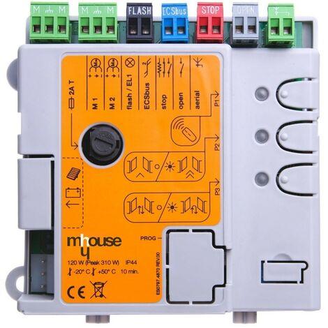 Mhouse - CL2 - Carte électronique pour motorisation de portail WS2 - WG2 - WW2 - WU2 - WK2 - Noir