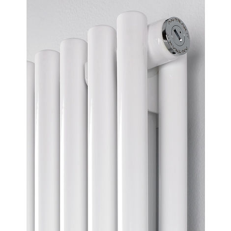 MHS Rads 2 Rails Battersea Double Panel Vertical Radiator White