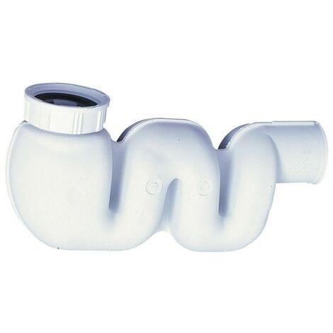 Mi-siphon pour lavabo / bidet, extra-plat, filetage 1 ¼ '' « COMPACT »