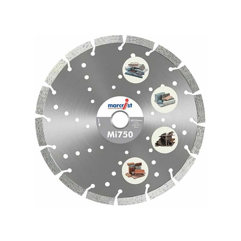 Image of 1111.0350.20 Mi750 Diamond Blade Long Life Universal Cut 350 x 20mm - Marcrist