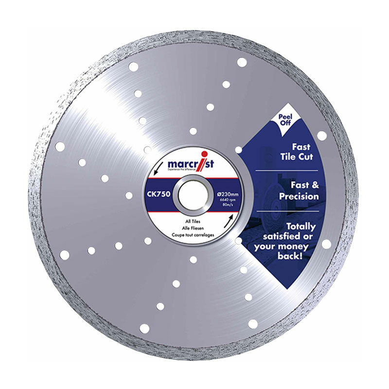 Image of 1125.1180.25 CK750 Diamond Blade Smooth Tile Cut 180 x 25.4mm Machine - Marcrist