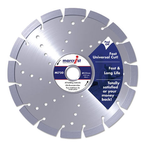 3x EBERTH Diamond cutting disc blade tile cutter grinder 230mm wet cut universal
