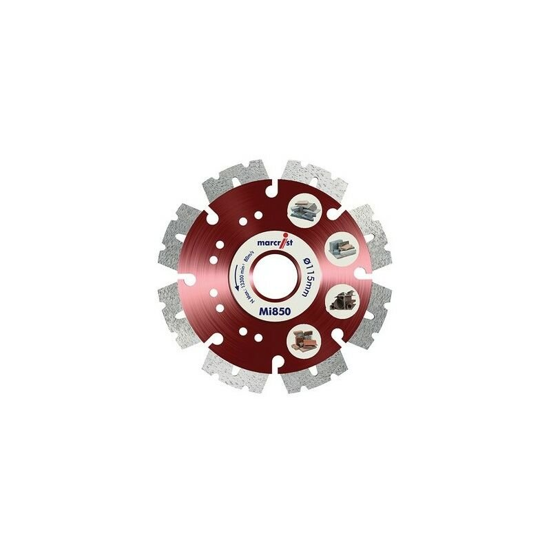 Image of 1112.0115.22 Mi850 Fastest Universal Cut Diamond Blade 115mm x 22.2mm - Marcrist