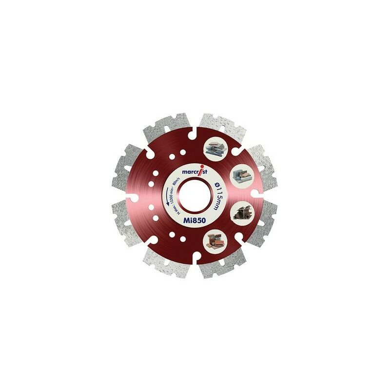 Image of 1112.0230.22 Mi850 Fastest Universal Cut Diamond Blade 230mm x 22.2mm - Marcrist