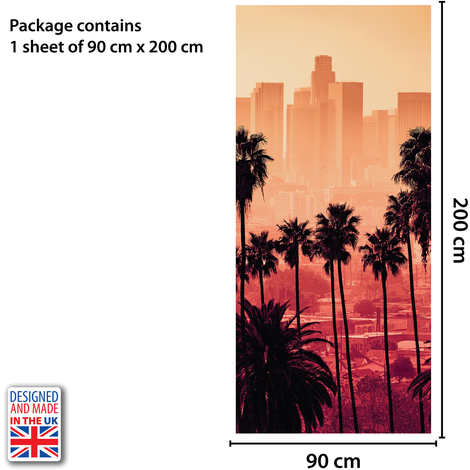 Miami Self-Adhesive Door Mural Sticker For All Europe Size 90Cm X 200Cm