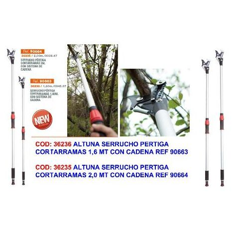 MIBRICOTIENDA altuna serrucho pertiga cortarramas 1,6 mt con cadena ref 90663