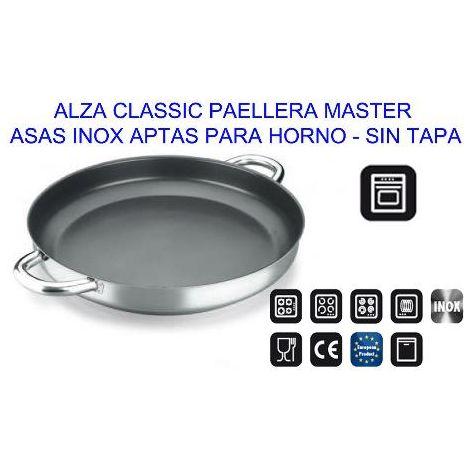 MIBRICOTIENDA alza classic paellera master inox 30 s-tapa apta horno 31150530