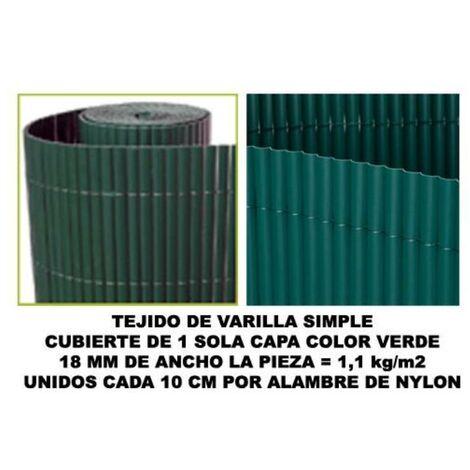 MIBRICOTIENDA bambu cañizo pvc 1 cara 18 mm color verde 200x500 cm mz8006