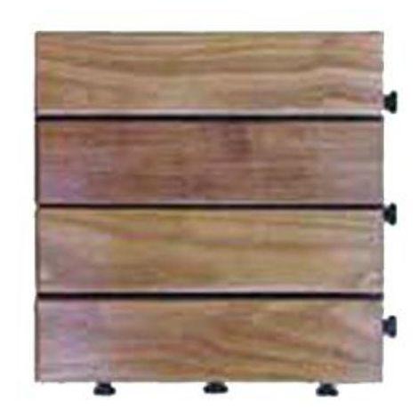 MIBRICOTIENDA bambu loseta de madera 30x30x2,7 cm caja de 20 und. 080
