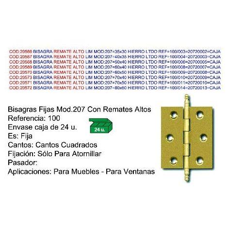 "main image of ""MIBRICOTIENDA bisagra lim mod 207 80x60 hierro ltdo ref 100-014 20720013 caja"""