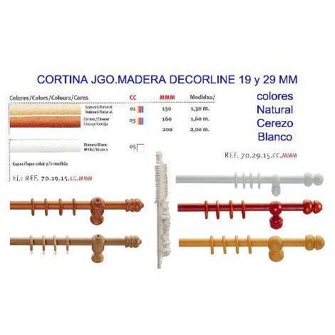 MIBRICOTIENDA cortina jgo.madera decorline 19mmx2,00 mt blanco 05