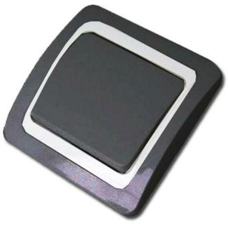 MIBRICOTIENDA electricidad interruptor-conmutador antracita blister 52035