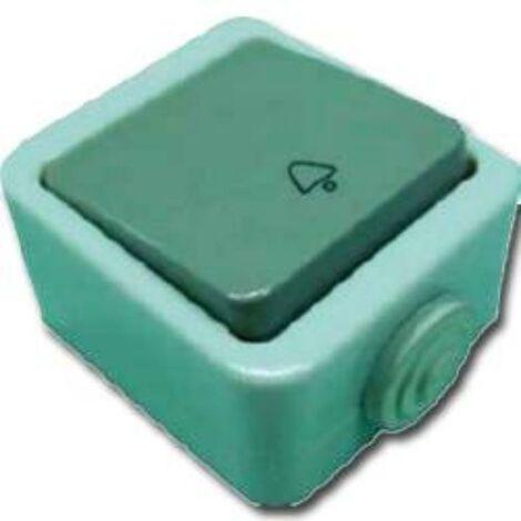 MIBRICOTIENDA electricidad pulsador estanco ip-44 gris blister 51002