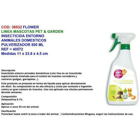 MIBRICOTIENDA flower insecticida entorno animal domest 500 ml pet garden 40572