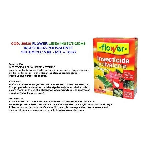 MIBRICOTIENDA flower insecticida polivalente 15 ml sistemico 30627