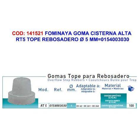 MIBRICOTIENDA fominaya goma cist.alta rt5 tope rebosadero ø 5 mm 0154003030