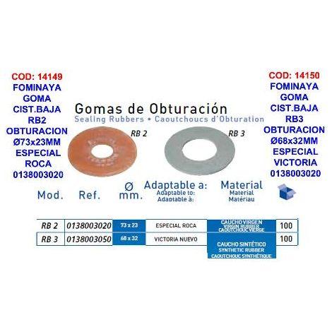 MIBRICOTIENDA fominaya goma cist.baja rb3 obturacion ø68x32mm victo 0138003050