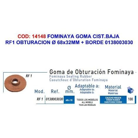 MIBRICOTIENDA fominaya goma cist.baja rf1 obturacion ø68x18mm+borde 0138003030