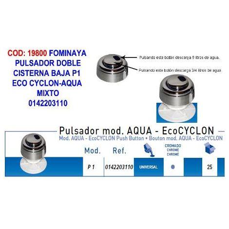 MIBRICOTIENDA fominaya pulsador c-baja p1 eco cyclon-aqua mixto 0142203110