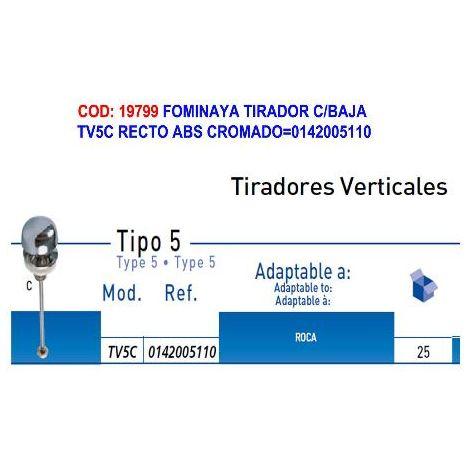 MIBRICOTIENDA fominaya tirador c-baja tv5c recto abs cromado 0142005110