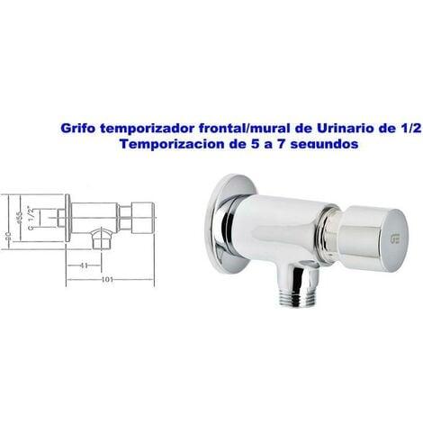 MIBRICOTIENDA genebre grifo temporizador frontal urinario mural 1-2 1185 04