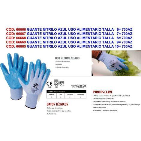 MIBRICOTIENDA guante nitrilo azul uso alimentario talla 10 700az touch