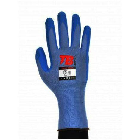 MIBRICOTIENDA guante nitrilo azul uso alimentario talla 10 700azfp touch