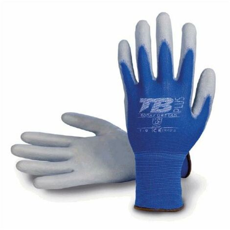 MIBRICOTIENDA guante poliuretano azul uso alimentario talla 10 500az