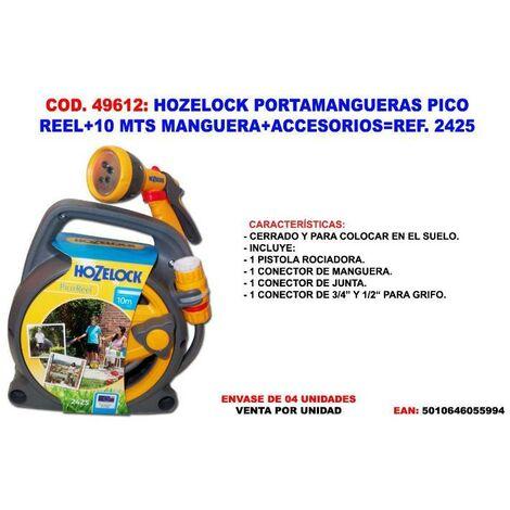 MIBRICOTIENDA hozelock portamangueras pico reel+10 m manguera+ acc. 2425