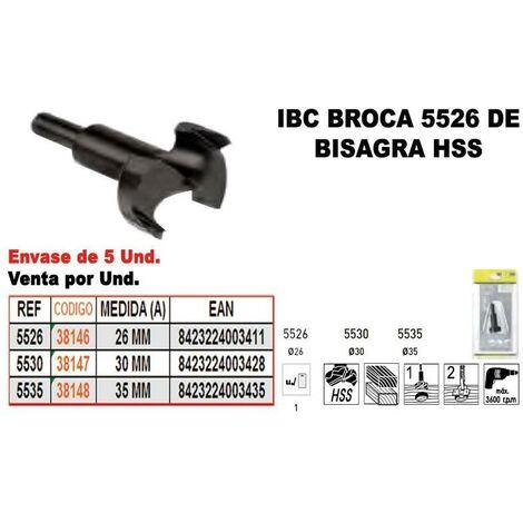 MIBRICOTIENDA ibc 5-535 broca bisagra hss 35 mm