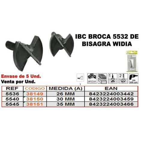 MIBRICOTIENDA ibc 5-545 broca bisagra widia 35 mm