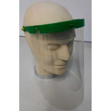 MIBRICOTIENDA kit de proteccion facial 2 pantallas+diadema+2 gomas