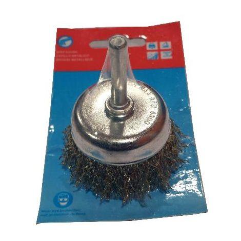 MIBRICOTIENDA lams cepillo taza 50 mm+espiga 6 mm alambre ond.lat. 35452001
