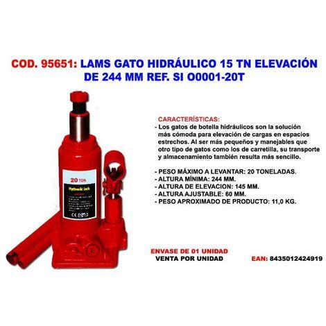 MIBRICOTIENDA lams gato hidráulico 20 tn elevación 244 mm ref. si o0001-20t