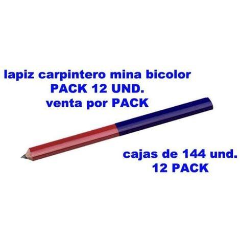 MIBRICOTIENDA lams pack 12 un. lapiz carpintero bic.azul-rojo 20095