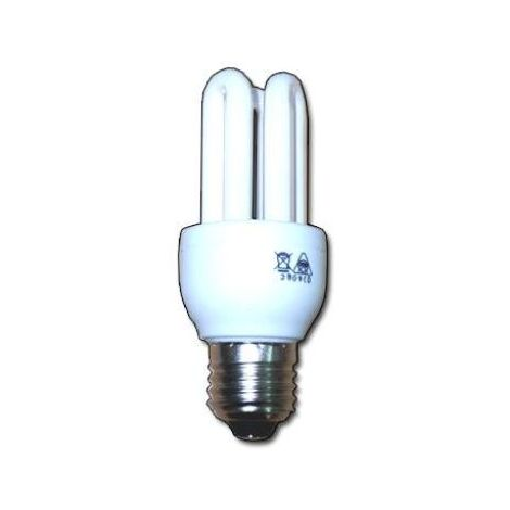 MIBRICOTIENDA luz dlu lampara electr.3u-t3 230v e27 corta 8w calida fls33040