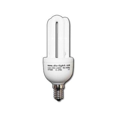 MIBRICOTIENDA luz dlu lampara electron.3u-t3 230v e14 corta 11w fria fls36022