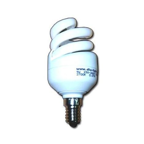 MIBRICOTIENDA luz dlu lampara electron.t3 230v e14 spiral 11w calida flsg6020