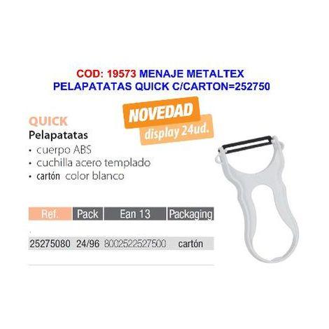 MIBRICOTIENDA menaje metaltex pelapatatas quick c-carton 252750