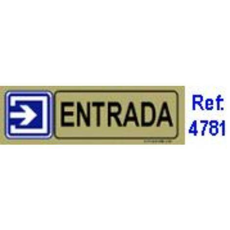 MIBRICOTIENDA placa adh.entrada pvc 53x165mm 4781 bl