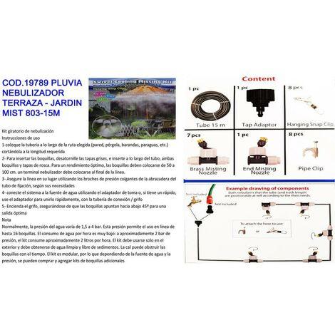 "main image of ""MIBRICOTIENDA pluvia nebulizador terraza - jardin mist 803-15m"""
