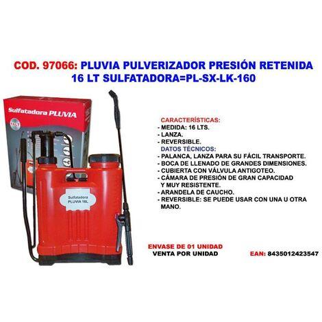 MIBRICOTIENDA pluvia pulv.presion retenida 16 lt sulfatadora pl-sx-lk-160